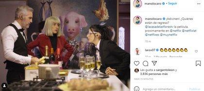 Los fans de la serie se mostraron sorprendidos ante la inesperada noticia (Foto: @manolocaro/ Instagram)