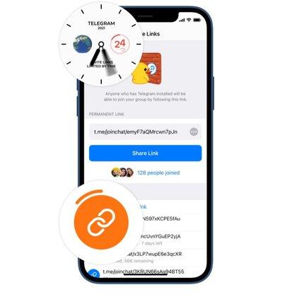 Enlaces de invitación en Telegram