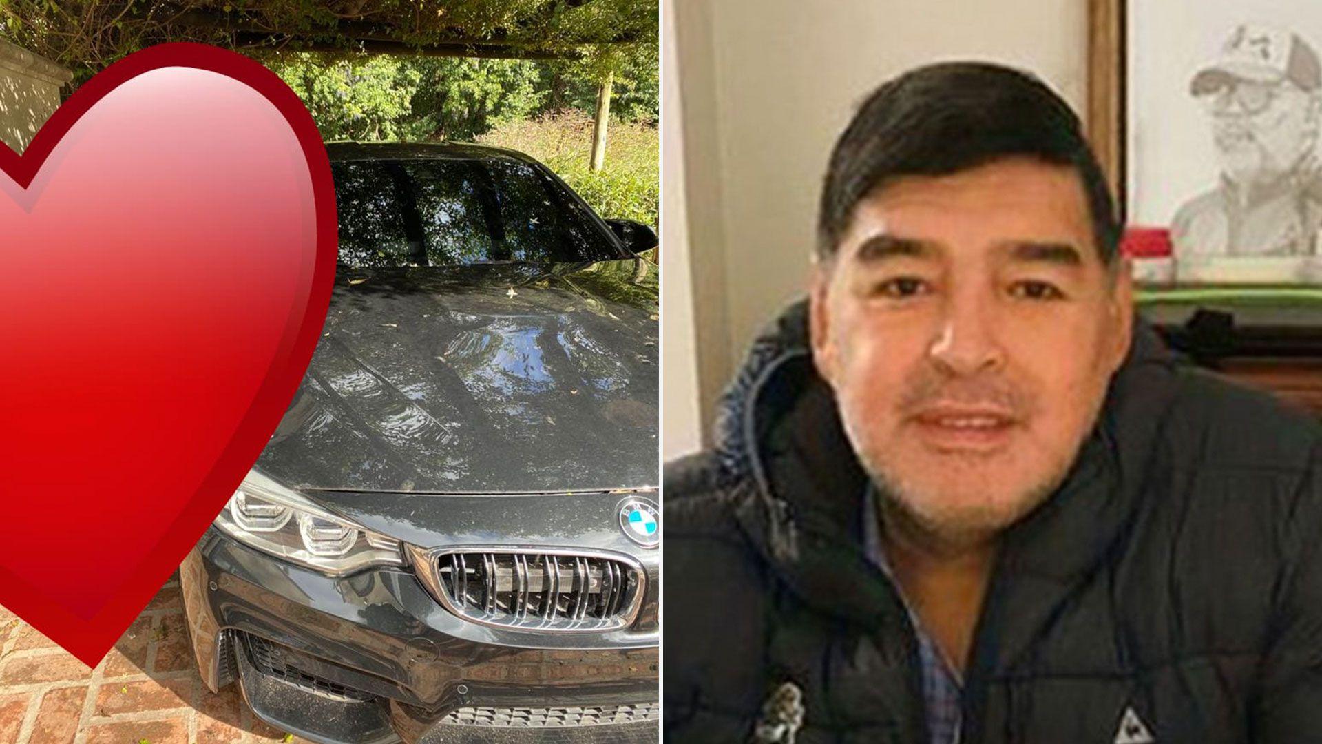 El lujoso auto de Maradona