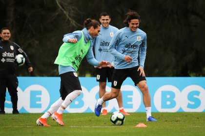 View of a training session for the Uruguay national team at the Celeste Complex.  EFE / Ra l Mart nez / Archive