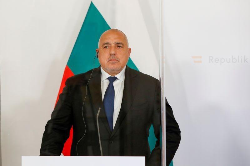 FOTO DE ARCHIVO: El primer ministro de Bulgaria, Boyko Borissov, asiste a una rueda de prensa en Viena, Austria, el 16 de marzo de 2021.  REUTERS/Leonhard Foeger
