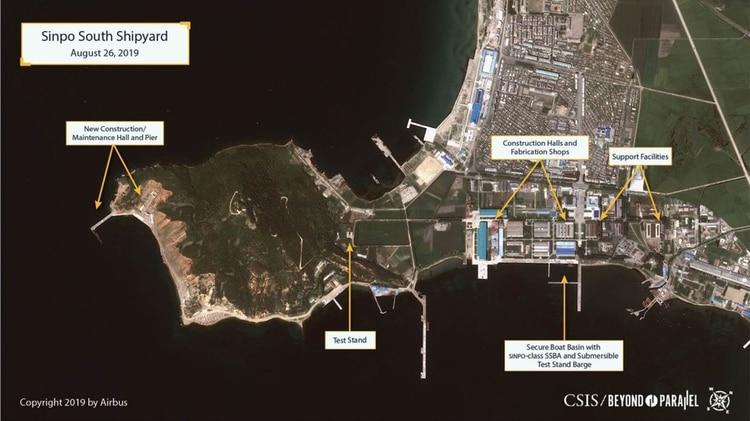 Vista general del astillero en Sinpo (CSIS/Airbus)