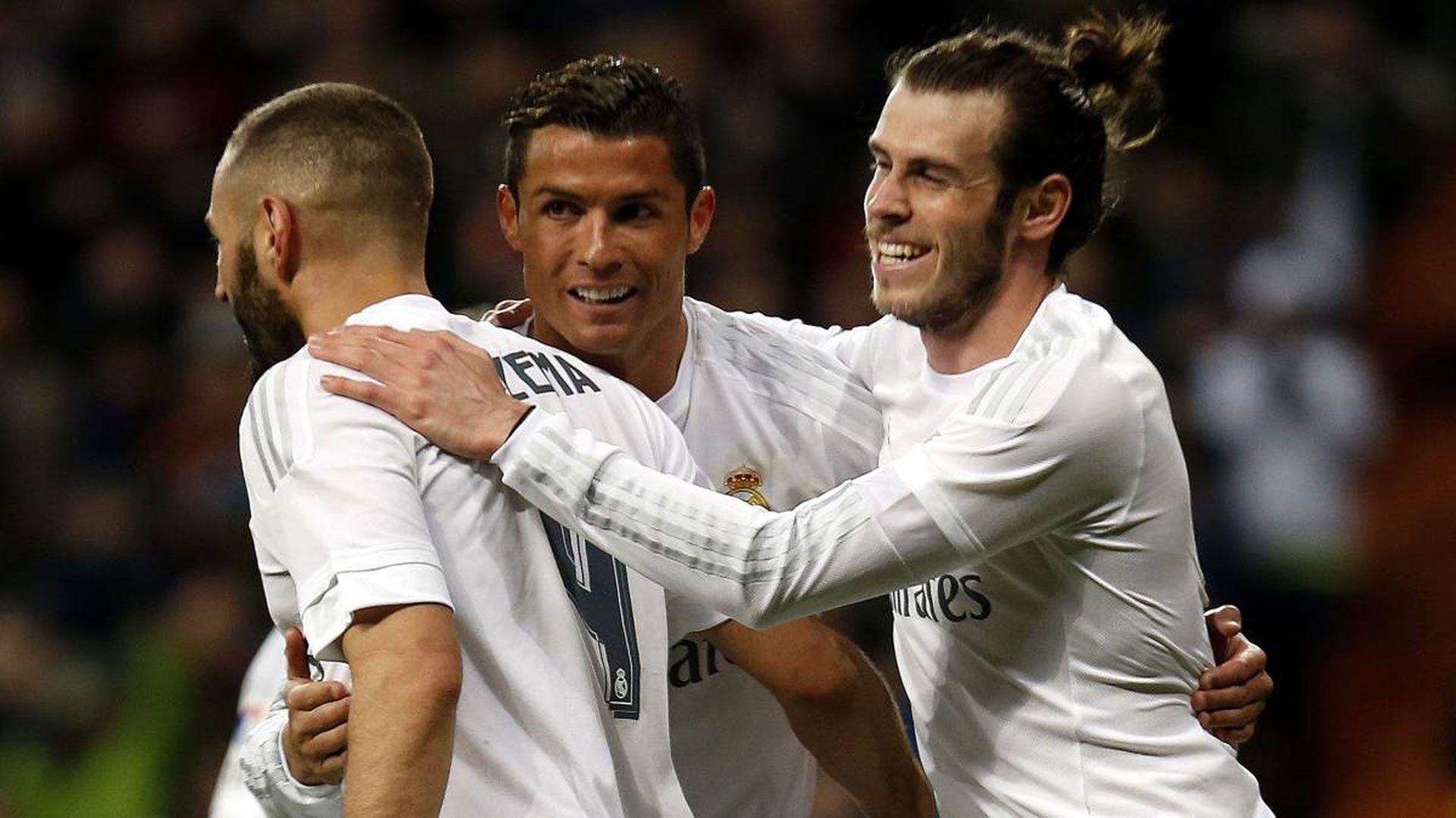 Ronaldo, Benzema y Bale conformaron una temible delantera en Real Madrid