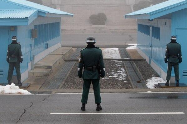 El área desmilitarizada en la frontera de las Coreas, en Panmunjom (Photo by Chung Sung-Jun/Getty Images)