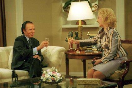 Mirtha junto al ex presidente Carlos Menem