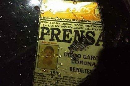 Diego García, segundo reportero en morir (Foto: Redes sociales)