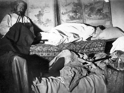 Las autoridades estaban al tanto de los fumaderos de opio en Chinatown. (Biblioteca Bancroft, Universidad de California en Berkely)