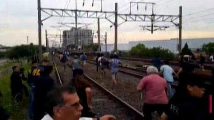 El momento en que ocurrieron los incidentes en la estación Avellaneda