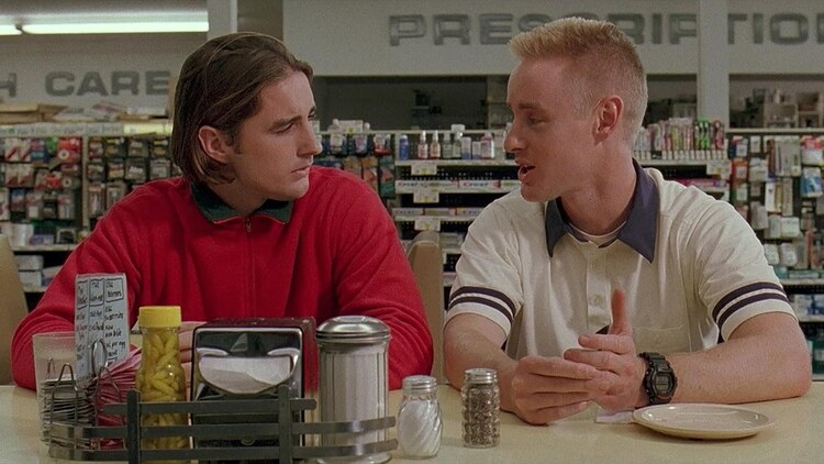 "Luke y Owen Wilson en ""Bottle Rocket"""