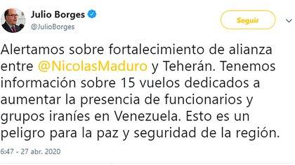 El tuit de Julio Borges