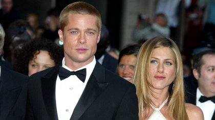 Brad Pitt y Jennifer Aniston en Cannes (2004)