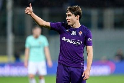 Federico Chiesa es una de las figuras de Fiorentina (REUTERS/Jennifer Lorenzini)