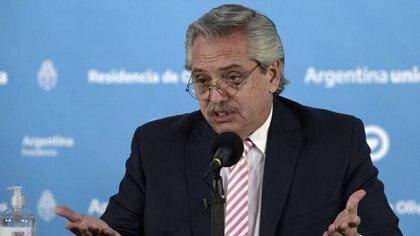 """Alberto Fernández al FMI: """"(En la campaña) les recordé cómo habían violado los estatutos para financiar la especulación financiera y la salida de capitales"""" (REUTERS)"""