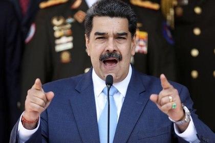 Nicolás Maduro, durante una conferencia de prensa en el Palacio de Miraflores (Reuters)