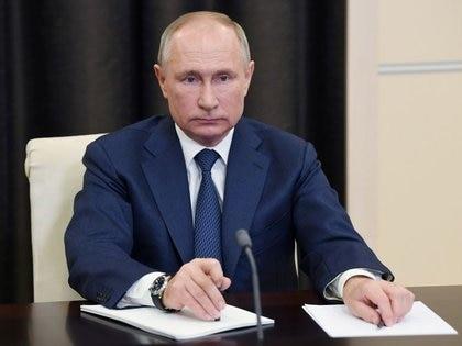 El presidente ruso, Vladimir Putin, en una videoconferencia, residencia de Novo-Ogaryovo, Rusia, 4 diciembre 2020. Sputnik/Aleksey Nikolskyi/Kremlin vía REUTERS