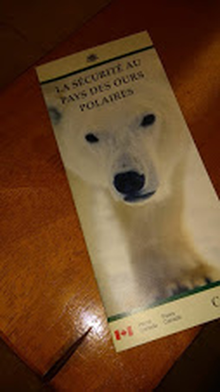 El folleto en francés que los ayudó a sobrevivir frente a los osos polares.
