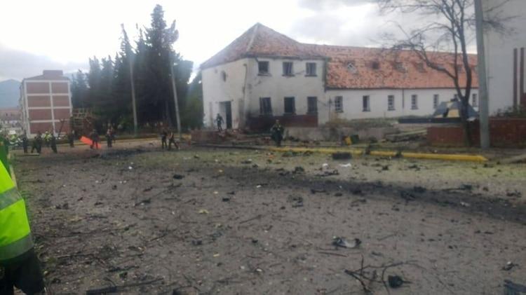 Así quedó la Escuela Militar de cadetes General Santander, al sur de Bogotá, luego de la explosión