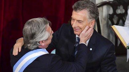 Alberto Fernández y Mauricio Macri, cuando todavía había cierta paz entre ambos