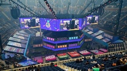 El Mundial de Fortnite se lleva a cabo en elArthur Ashe Stadium, en Nueva York (Catalina Fragoso-USA TODAY Sports)