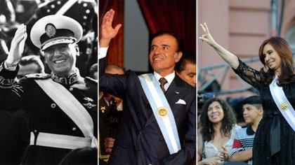Perón, Menem y Cristina Kirchner. Los tres presidentes que lograron la reelección
