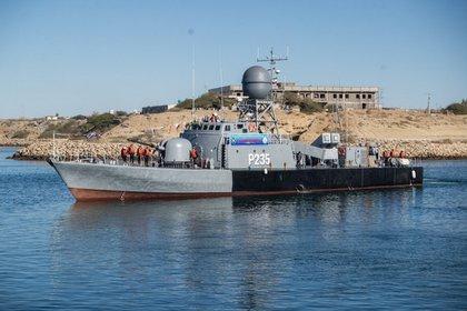 Golfo de Omán.. EFE/EPA/IRANIAN ARMY HANDOUT
