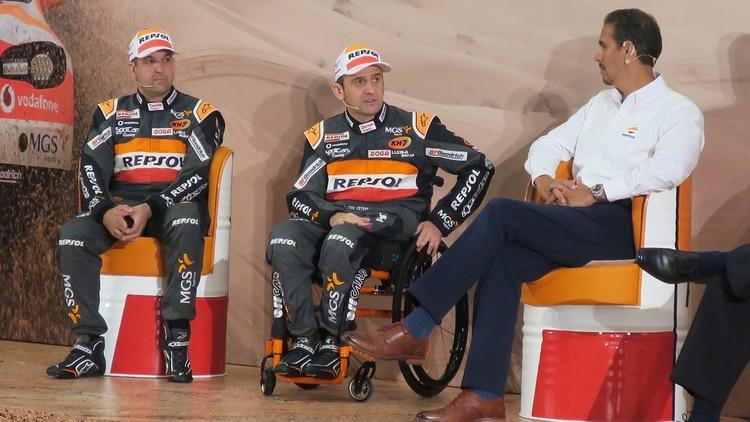 (EFE) Isidre Estevez, uno de los pilotos participantes del Dakar
