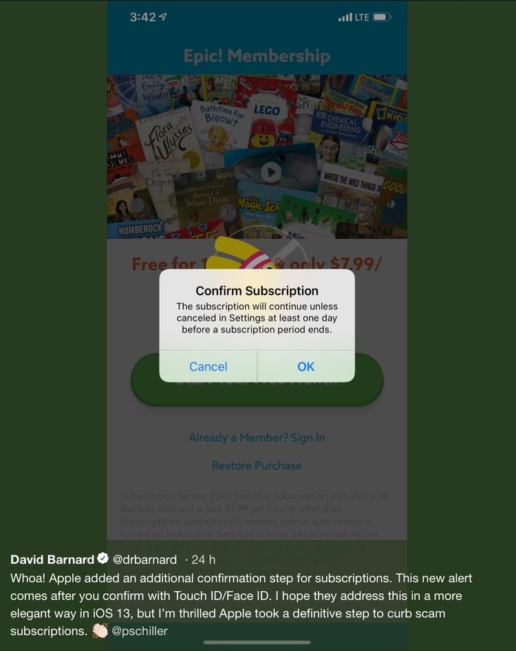 La segunda verificación aparece después de que el usuario se identifique con el rostro o la huella digital (Foto: Twitter @drbarnard)