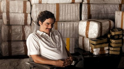 """Pablo Escobar, caracterizado por la serie """"Narcos"""" de Netflix"""