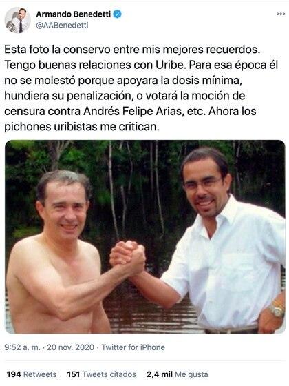 Armando Benedetti / Twitter