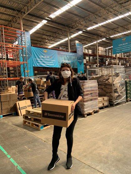 Infobae en el centro de logística de #SeamosUno. (Franco Fafasuli)