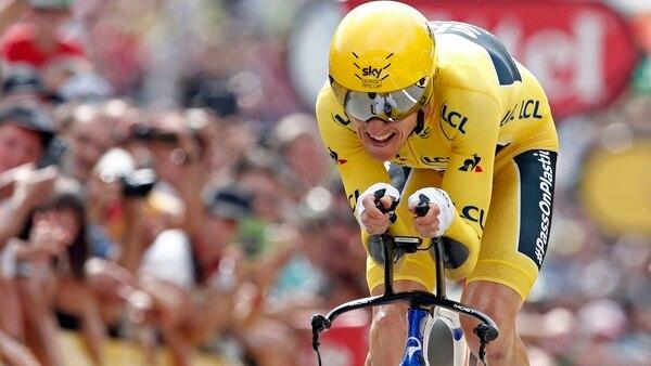 Thomas, del equipo Sky, se aseguró el malliot amarillo en el Tour de France (REUTERS)