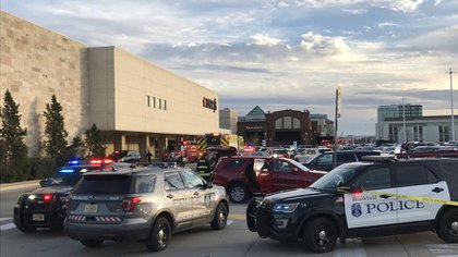 Strong police operation for the incident in the shopping center