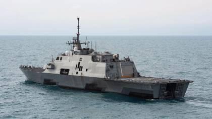El USS Detroit, buque de combate litoral de la clase Freedom