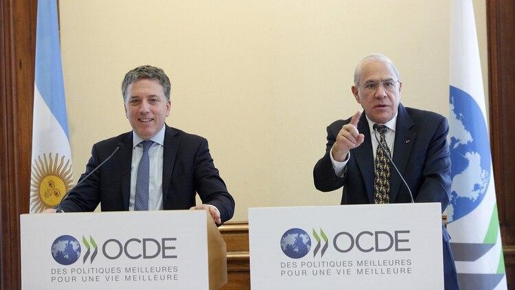 Nicolás Dujovne y Ángel Gurria, secretario General de la OCDE (Prensa Hacienda)