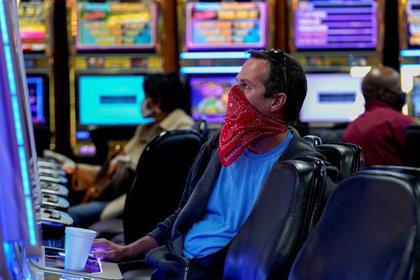A customer of a casino in El Reno, Oklahoma (Reuters)