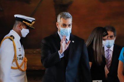 En la imagen, el presidente paraguayo, Mario Abdo Benítez. EFE/Nathalia Aguilar/Archivo