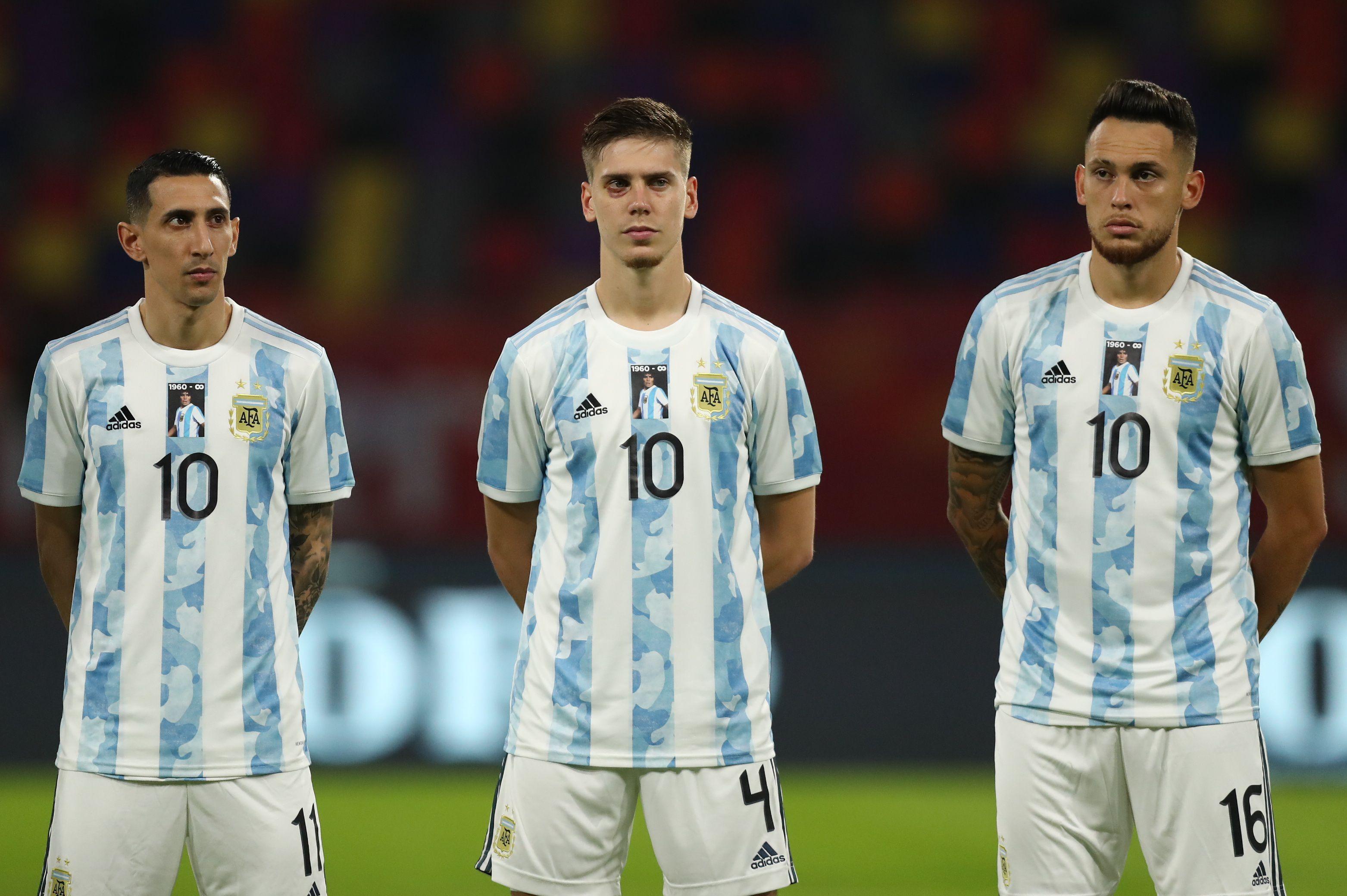 Di María, junto a Foyth y Ocampos, dos de los que no viajarían a Brasil (REUTERS/Agustin Marcarian)