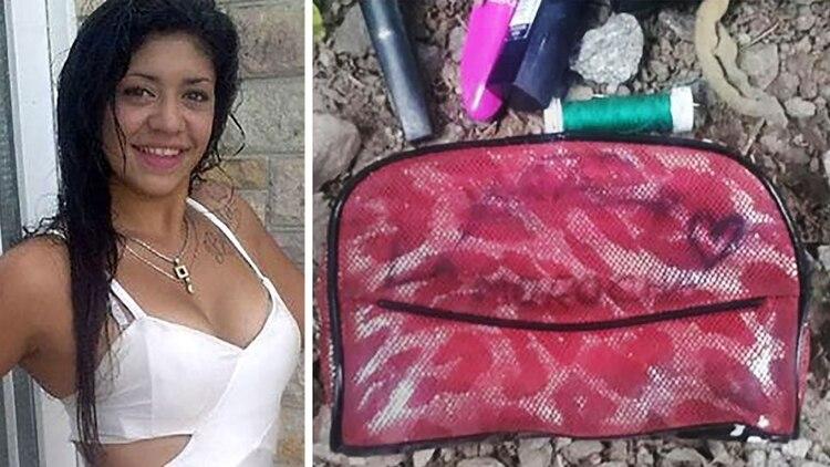 Araceli Fulles, junto a algunas de las pertenencias de la joven encontradas tras su desaparición