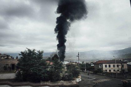 04/10/2020 Recientes bombardeos en la región de Nagorno Karabaj con motivo del conflicto histórico por esta región entre Azerbaiyán y Armenia. POLITICA AZERBAIYÁN ARMENIA INTERNACIONAL ADRIEN VAUTIER / ZUMA PRESS / CONTACTOPHOTO