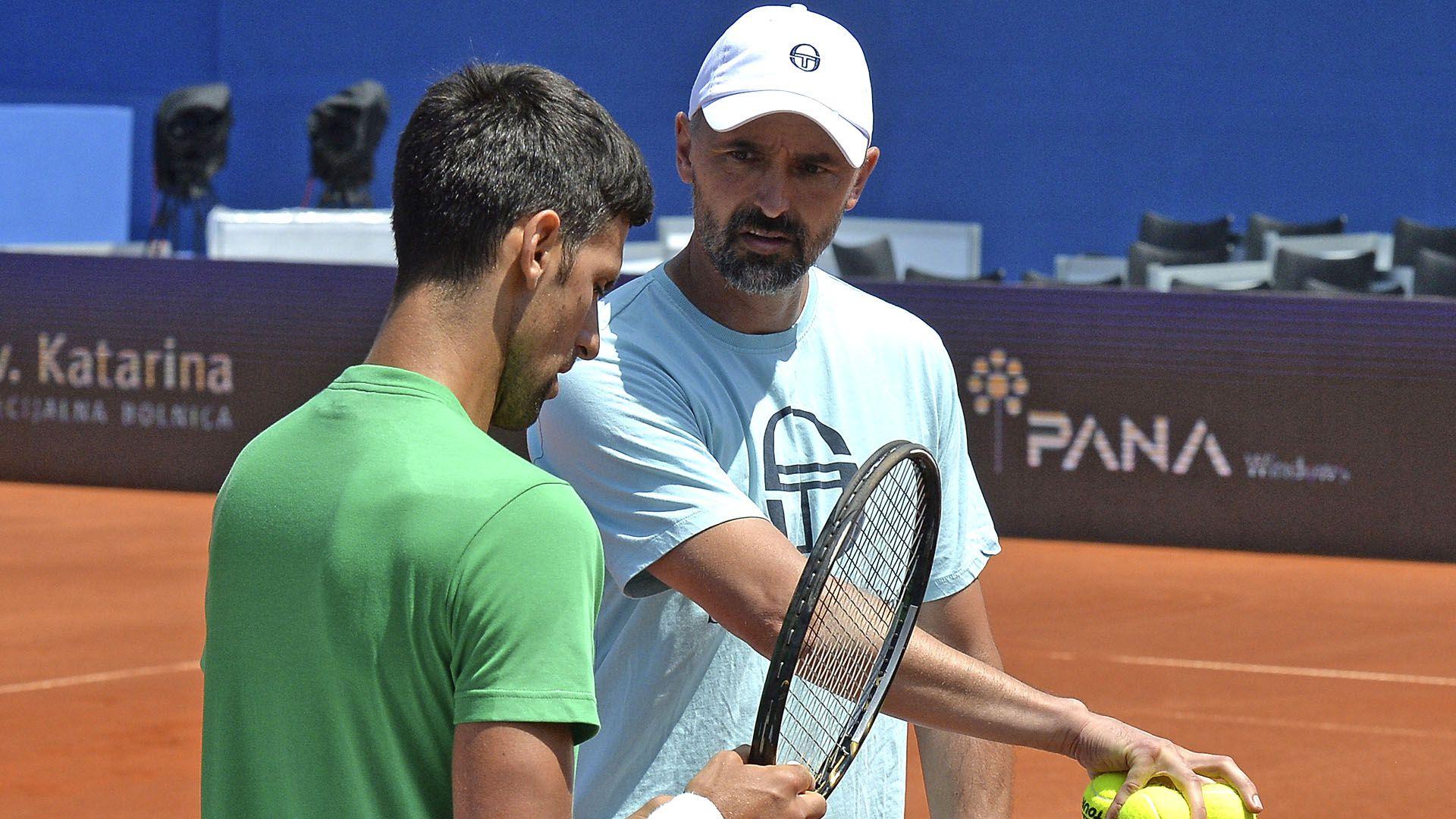 Djokovic con Goran Ivanisevic