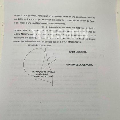 El pedido de exhumación del cuerpo de Natacha Jaitt