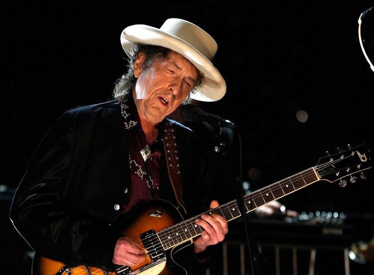 Bob Dylan, una de las grandes figuras que participaron de la canción (Foto: AFP)