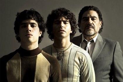 Nicolás Goldschmidt, Nazareno Casero y Juan Palomino interpretarán a Maradona en sus distintas etapas (Foto: Amazon)