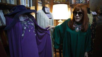 El vestido de Iris Magra que se encuentra en el museo de La Casa del Teatro