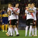 Soccer Football - Copa Libertadores - Semi Final - First Leg - River Plate v Boca Juniors - Antonio Vespucio Liberti Stadium, Buenos Aires, Argentina - October 1, 2019 River Plate players celebrate after the match REUTERS/Pablo Stefanec NO RESALES. NO ARCHIVES