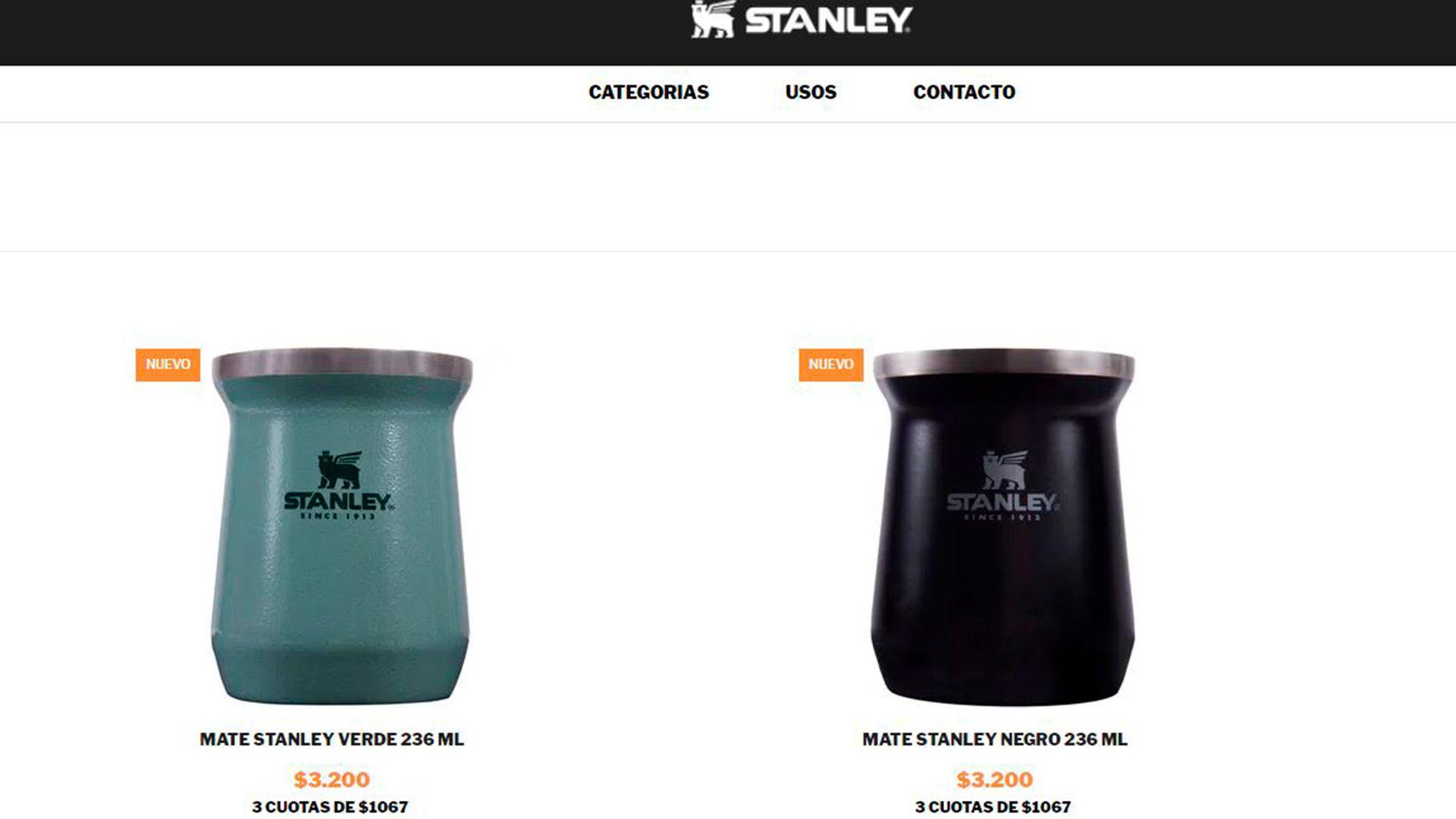 En la web local de Stanley el mate en los dos colores disponibles