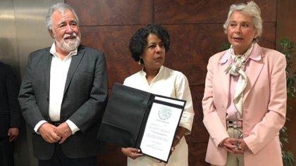 De acuerdo con Candelaria Ochoa, fue presionada por la Segob para aplicar recortes a Alertas de Violencia de Género (Foto: Twitter @conavim)
