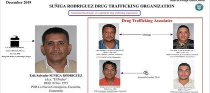 En diciembre de 2019, Erik Súñiga y dos de sus hermanos fueron incorporados a la lista OFAC, que designa a extranjeros sometidos a sanciones por Estados Unidos. Poco después, Pocho se entregó a la justicia. (Foto: Office of Foreign Assets Control).