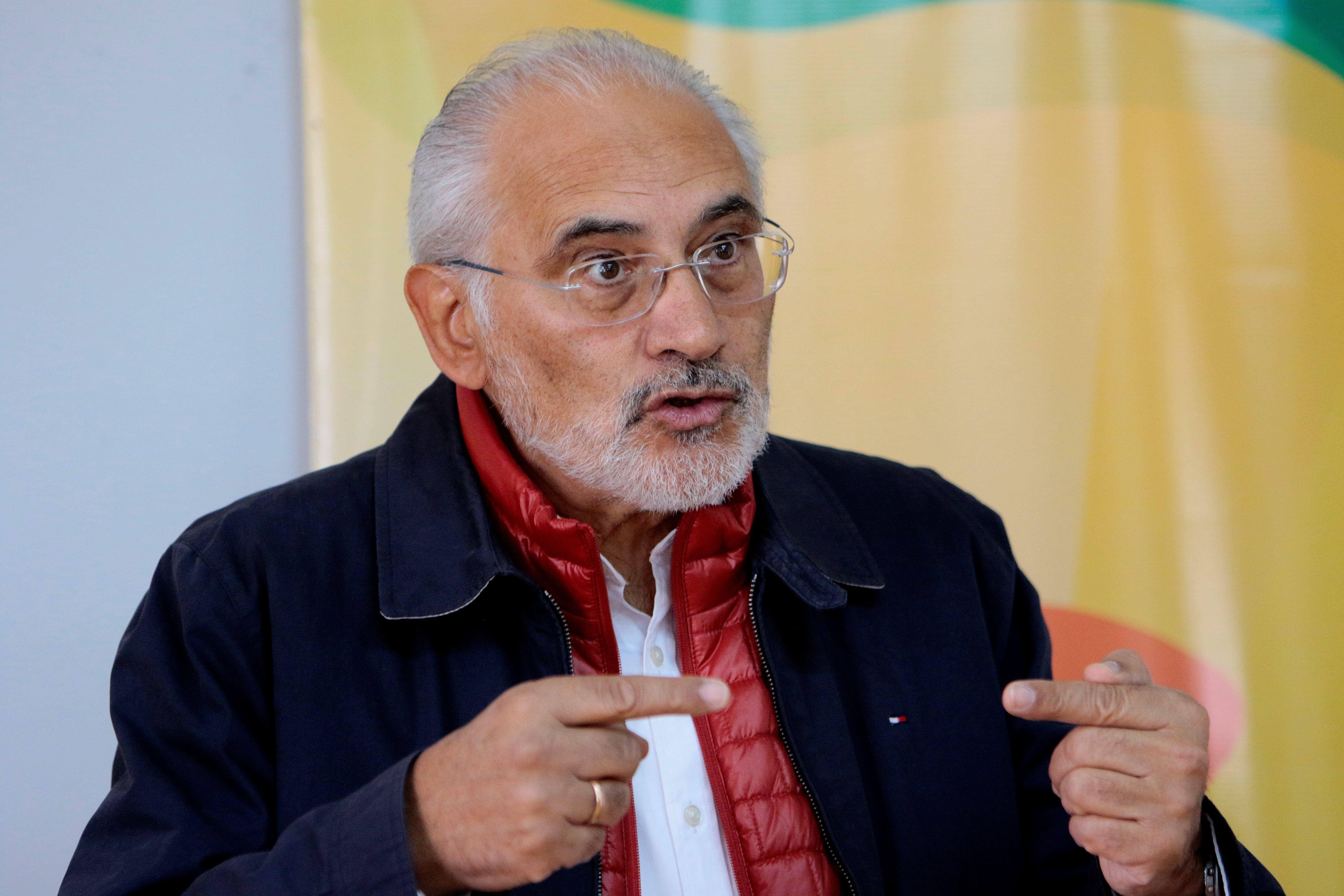 Carlos Mesa, el candidato que disputó con Evo Morales las elecciones de octubre pasado, esta vez aparece en  las encuestas peleando el segundo lugar con la presidente Jeanine Áñez.