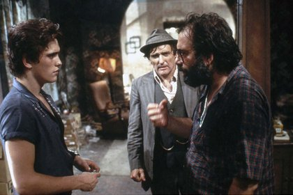 Francis Ford Coppola, Matt Dillon, and Dennis Hopper in Rumble Fish (1983)